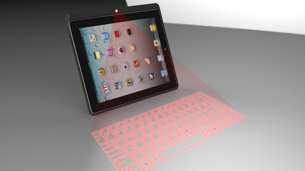 iPad/ Tablet Case mit Lasertastatur