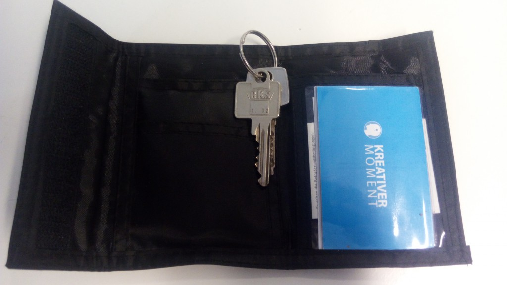 Keys in wallet/Schlüssel in Brieftasche